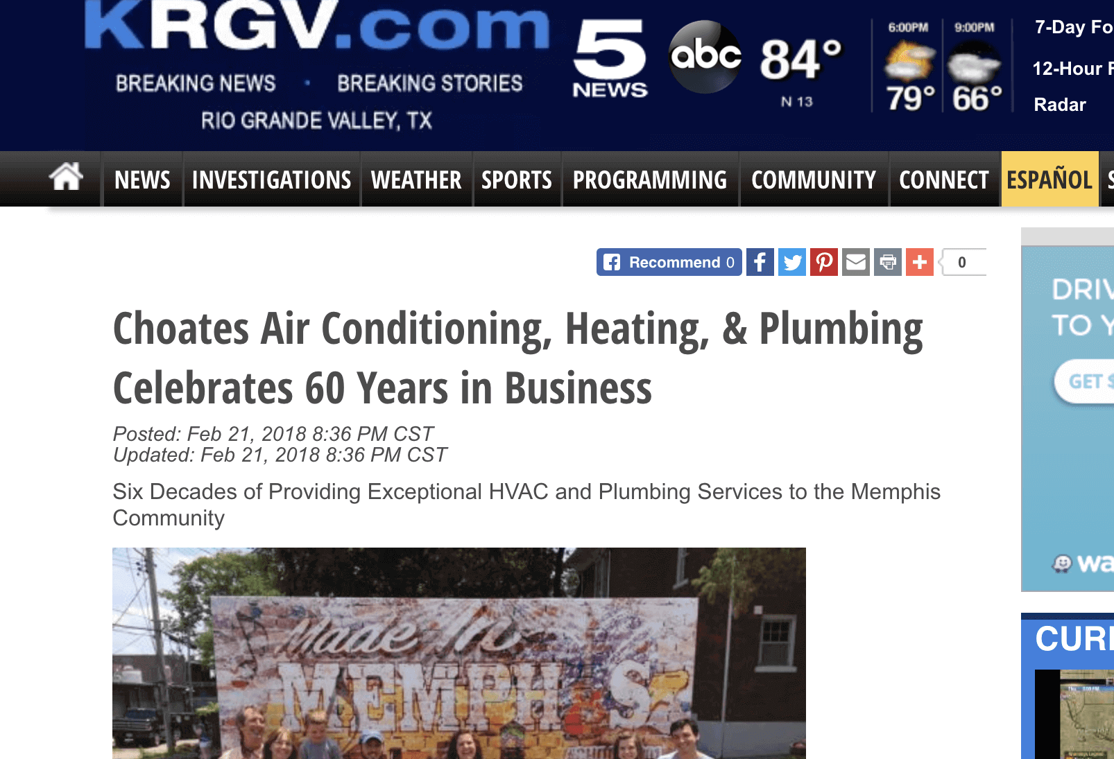 """Featured image for """"Choate's Air Conditioning, Heating, & Plumbing Celebrates 60 Years in Business"""""""