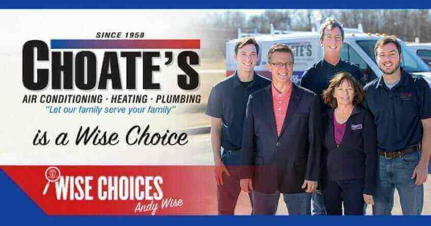 Choate's Air Conditioning, Heating And Plumbing Wise Choices